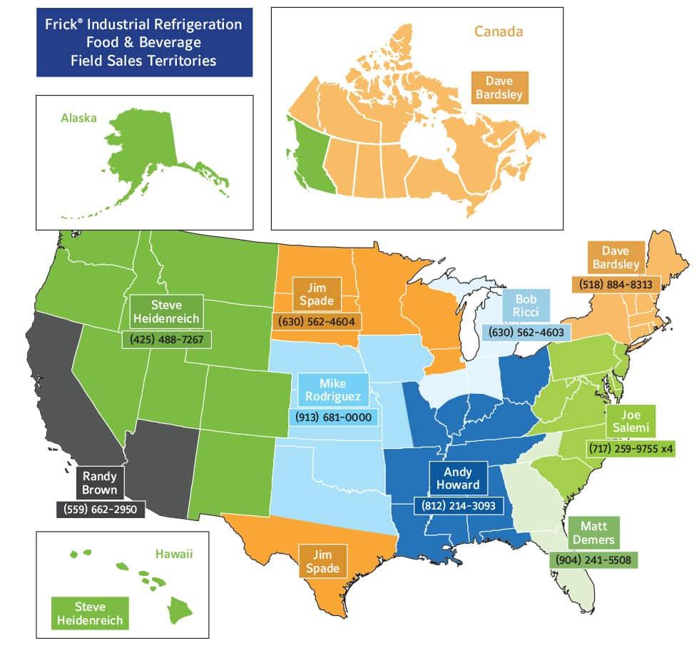 Frick Industrial Refrigeration Field Sales Team