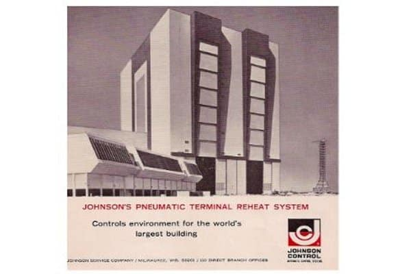 The Vehicle Assembly Building (VAB) in Merritt Island, Florida was depicted in this Johnson ad from 1965.
