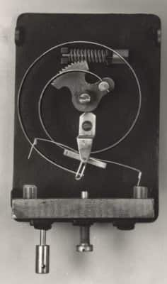 "Company founder Warren Johnson's first patented invention - the ""electric tele-thermoscope,"""