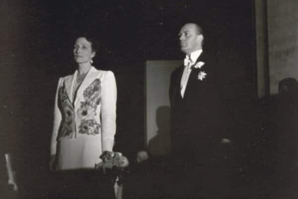 Norway's Prince Olav and Princess Martha attending a concert in Milwaukee during their June 1939 visit.