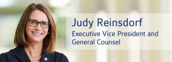 Judy Reinsdorf, Johnson Controls Executive Vice President and General Counsel