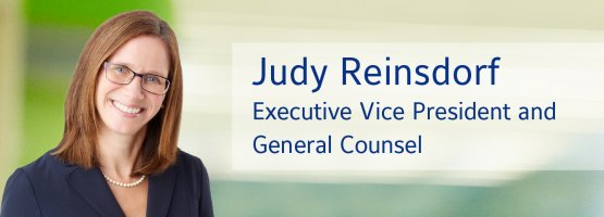Judy Reinsdorf, Executive Vice President and General Counsel, Johnson Controls