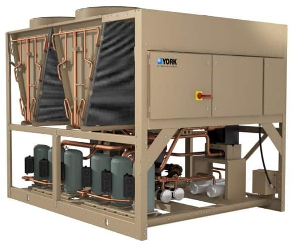 Johnson Controls has expanded its YORK® line of YLAA Air-Cooled Scroll Chillers up to 230 tons.