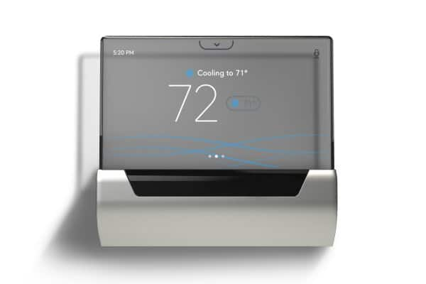 GLAS is the first smart thermostat of its kind to utilize a translucent OLED touchscreen display to control its functions.