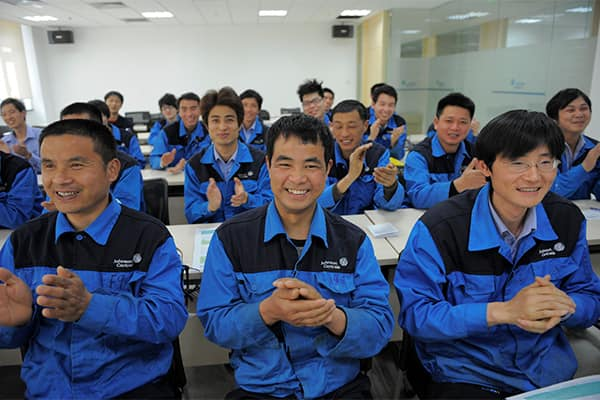 employees at China plant