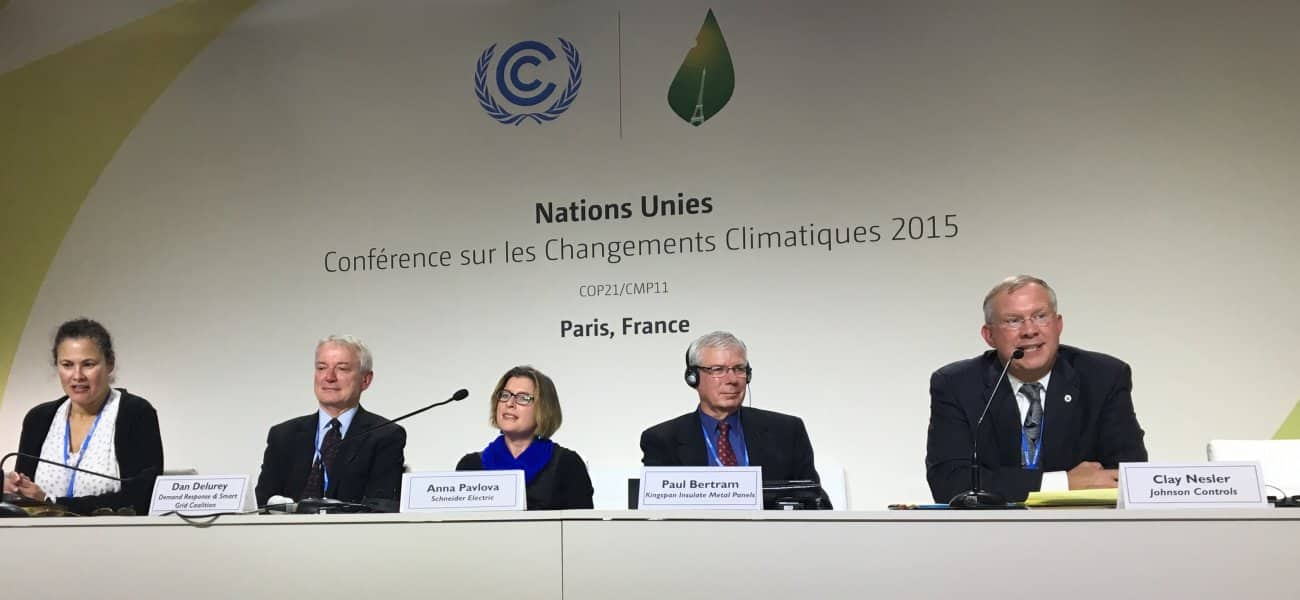 Johnson Controls participated in the United Nations Climate Change Conference in Paris
