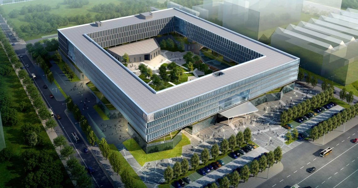 Johnson Controls is helping create a green and energy efficient campus for General Electric's Beijing Technology Park. The innovative hollow-core design combines building aesthetics, comfort and efficiency.