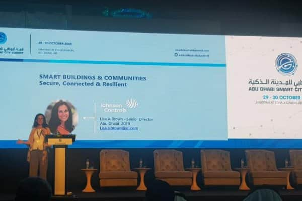 Johnson Controls local government expert, Lisa Brown, participated as a keynote speaker and panelist at the Abu Dhabi Smart City Summit.