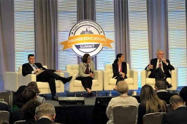 Russell Garcia contributed to a panel discussion at the P3 Higher Education Summit, sharing how today's campus leaders can utilize innovative funding models to create a sustainable campus and a better student experience.