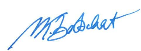 Mike Bartschat Signature