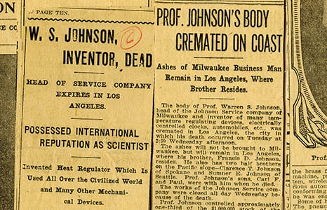Article Johnson Dead