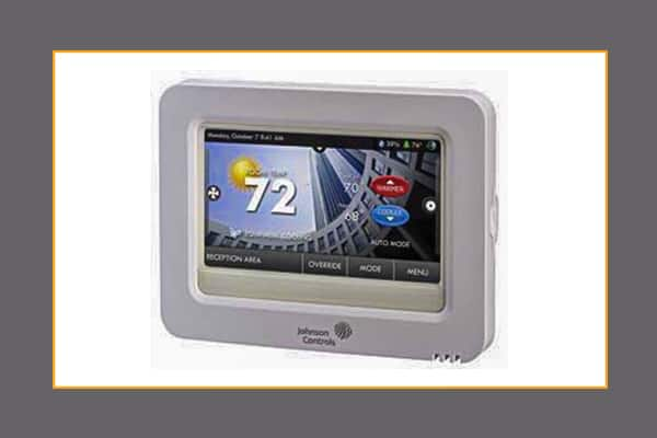 high resolution color touch screen digital room thermostats johnson controls. Black Bedroom Furniture Sets. Home Design Ideas