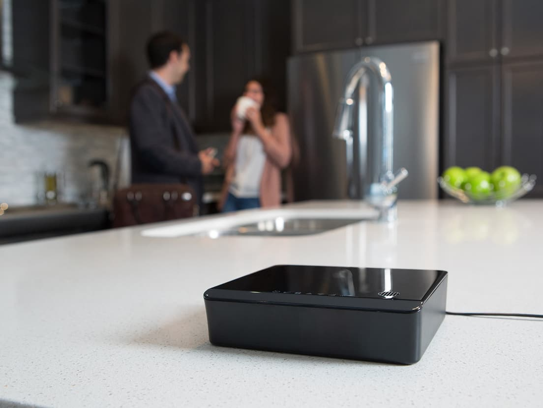 home automation device on the kitchen counter top