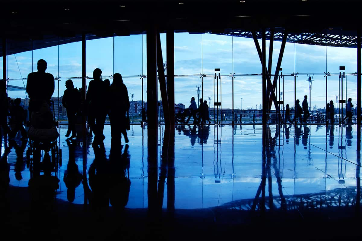 airportlobbypeoplesilhoutte