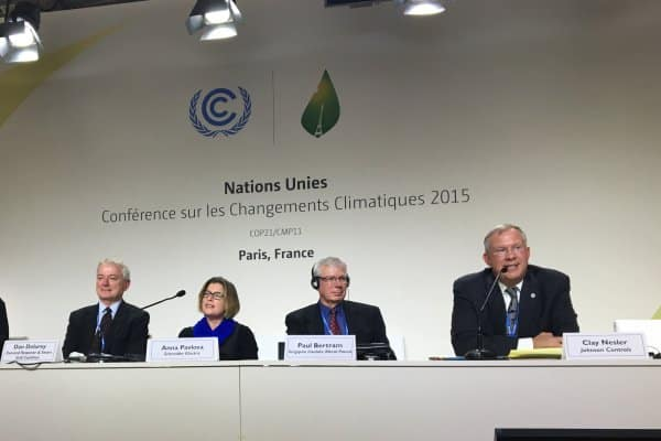 Johnson Controls participated in the United Nations Climate Change Conference in Paris.